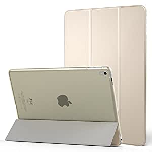 MoKo Case for iPad Pro 9.7 - Slim Lightweight Smart-shell Stand Cover with Translucent Frosted Back Protector for Apple iPad Pro 9.7 Inch 2016 Release Tablet, GOLD (with Auto Wake / Sleep)