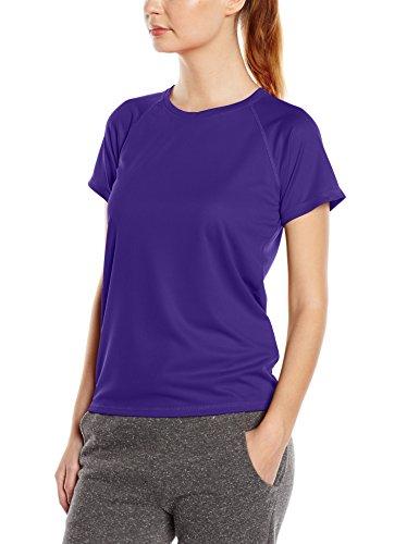 Stedman Apparel Active 140 Raglan/ST8500-Camiseta de deporte Mujer Purple (Deep Lilac)