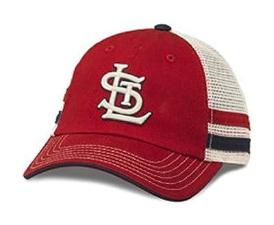 MLB American Needle Foundry Baseball Soft Mesh Back Adjustable Snapback Hat (St. Louis Cardinals)