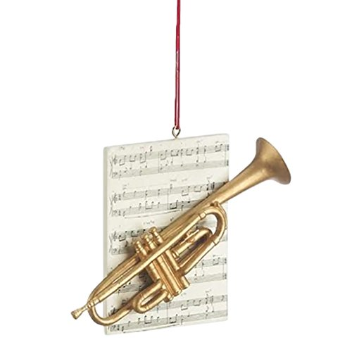 Trumpet Brass Instrument Resin Stone Christmas Ornament - Reindeer Brass Figurines