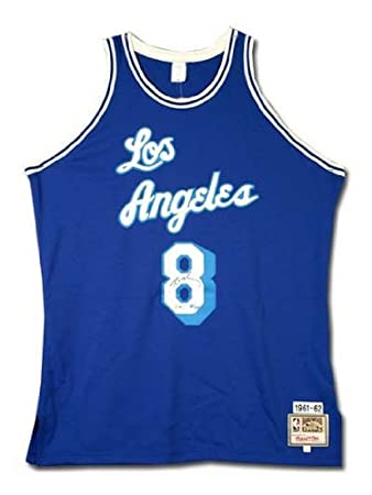 d98af20c3a8 Kobe Bryant Signed Lakers M&N 61-62 Blue Jersey UDA: Amazon.co.uk: Sports &  Outdoors