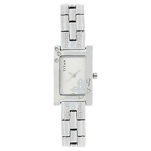 Titan-Womens-Contemporary-Chronograph-Multi-FunctionWork-WearGoldSilver-MetalLeather-Strap-Mineral-Crystal-Quartz-Analog-Water-Resistant-Wrist-Watch