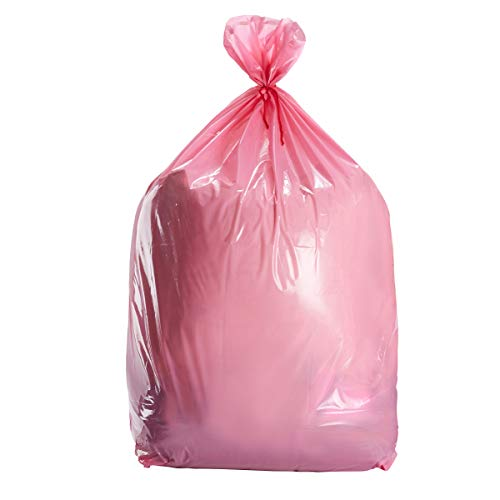 Pink Large Gift Bags - 6-Pack Jumbo Plastic Sack for Wrapping Oversized Gifts, 36 x 48 Inches, Includes Red -