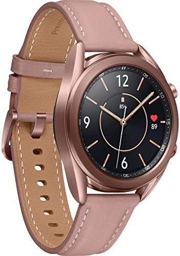 Samsung Galaxy Watch3 Watch 3 (GPS, Bluetooth, LTE) Smart Watch with Advanced Health Monitoring, Fitness Tracking, and Long Lasting Battery (Bronze, 41MM) (Renewed)
