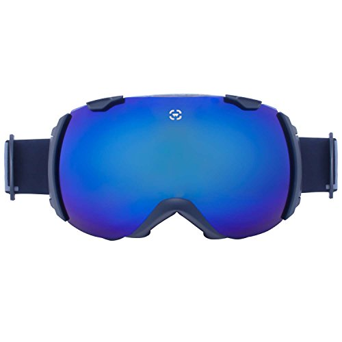 Winterial Globe Ski and Snowboard Goggles, UV Protection, Black