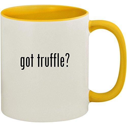 got truffle? - 11oz Ceramic Colored Inside and Handle Coffee Mug Cup, Yellow