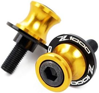 Color : Black Protection Moto Moto Accessoires de vis du Support de Bras oscillant Bobines de 10 mm for Kawasaki Z 1000 2003-2013 Logo Z1000 Z1000SX