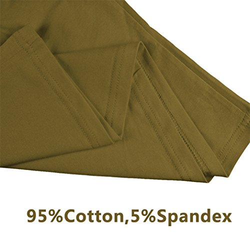 Estate Manica Verde Stampare Maglietta Cotone Yeesea casuale shirt corta T Militare Donna UwxtgqqR7