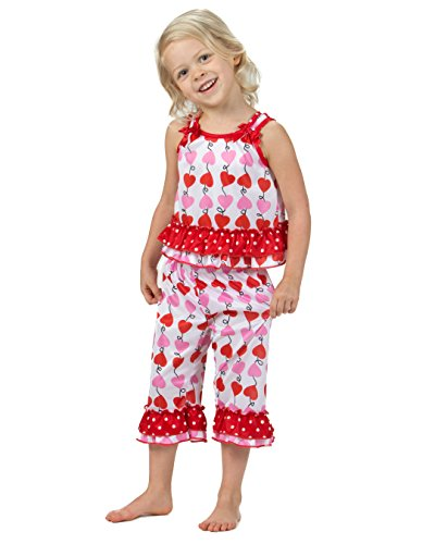 Laura Dare Baby Girls Heart Strings Bow Top Pajamas