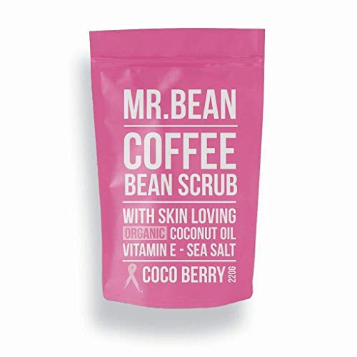 Mr. Bean Organic All Natural Coffee Bean Exfoliating Body Skin Scrub with Coconut Oil, Vitamin E, and Sea Salt - Cocoberry