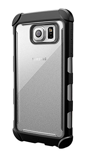 size 40 12c19 2fcbc Galaxy S6 Case - Poetic [Affinity Series] - [TPU Grip Bumper] [Corner  Protection] Protective Case for Samsung Galaxy S6 (2015) Frost Clear/Black  ...