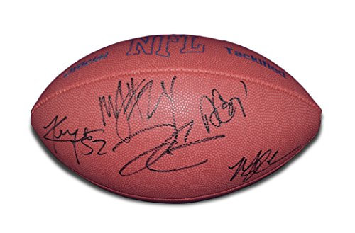 5X AUTOGRAPHED Derek Carr/Amari Cooper/Marshawn Lynch/Michael Crabtree/Khalil Mack 2017 Wilson MVP Official Tackified NFL Football with COA ()