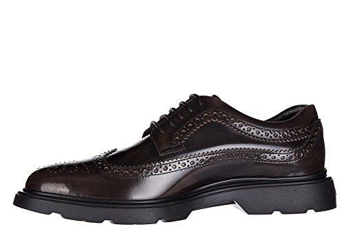 Hogan Classique Chaussures À Lacets Homme Nouveau Cuir H304 Route Derby Bucature M