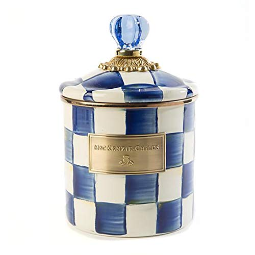 MacKenzie-Childs Royal Check Enamel Canister - Small
