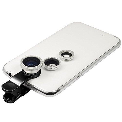 3 in 1 Macro/Fish-eye/Wide Universal Clip Lens (Black) - 2