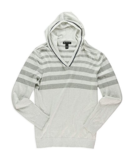 Inc men striped hooded sweater