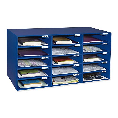 - Classroom Keepers 15-Slot Mailbox, Blue (001308) (Renewed)