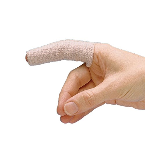 (Rolyan Tapered Elastic Finger Sleeve, Pack of 6 Sleeves for Edema and Swelling, Compression for Relief of Swollen Joints, Finger Injury Recovery, Extra Small/Small Sleeve )