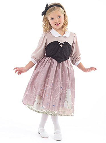 Little Adventures Sleeping Beauty Day Dress Costume for Girls - Small (1-3 (Sleeping Beauty Halloween Costume Child)