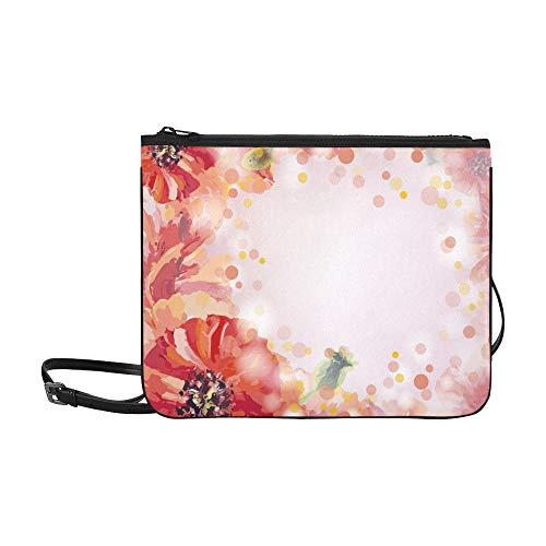 - Poppies Summer Flowers Invitation Template Card Custom High-grade Nylon Slim Clutch Bag Cross-body Bag Shoulder Bag