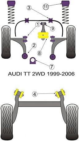 Pour Audi TT Mk1 2WD 1999-2006 Powerflex Moteur Avant Mount Dog Bone