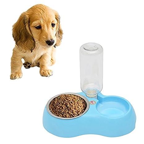 SRY- Suministros de mascotas Tazones de fuente de acero inoxidable, plato antideslizante del alimento para gatos ...