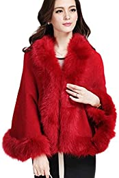 Amazon.com: Red - Fur & Faux Fur / Coats Jackets & Vests