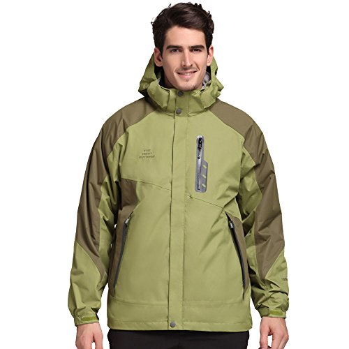 TFO Men's Jacket with Hood Waterproof Windproof...