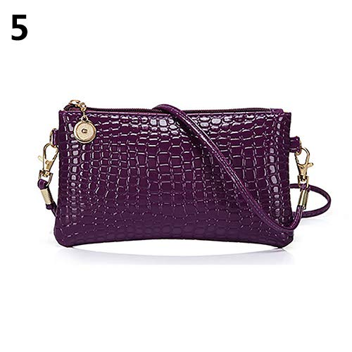 Women Faux Leather Zipper Clutch Mini Cross Body Shoulder Bag Phone Bag by Shengyuze (Image #9)