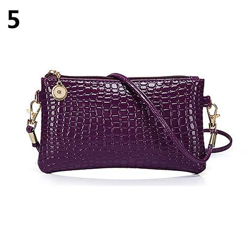 Women Faux Leather Zipper Clutch Mini Cross Body Shoulder Bag Phone Bag by Shengyuze (Image #10)