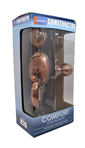 Constructor CON3997 Comfort Entry Lock Set with Door Lever Handle, Antique Copper by CONSTRUCTOR by CONSTRUCTOR