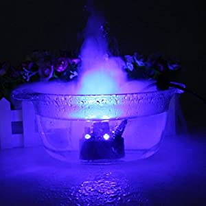 Zorvo Ultrasonic 12-LED Mist Maker Fogger Atomizer Air Humidifer Water Fountain Pond