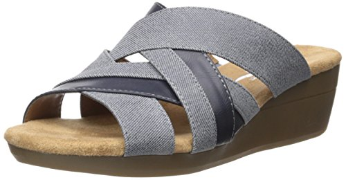 A2 by Aerosoles Women's Flower Power Wedge Sandal - Blue ...