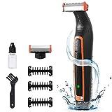 Electric Shaver For Men, Kebor UltraBlade Hair Trimmer Kit Rechargeble Bidirectional Showerproof Wet & Dry Face Beard & Body Bodygroomer, Lithium Ion Battery, IPX5 Waterproof Trim Edge & Shave HG5015 For Sale
