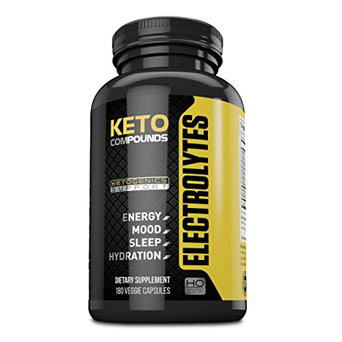 Keto Diet Electrolyte Supplement Tablets: Improve Energy, Mood & Recovery Time During Ketogenic Weight Loss Diets - Supplements Contain Potassium, Electrolytes, Calcium, Sodium & Magnesium - 180 Pills