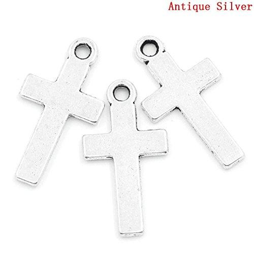 Antique Silver Cross Pendants 13mm product image