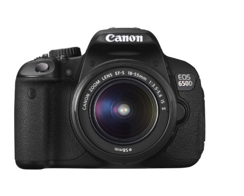 Canon EOS 650D Digital SLR Camera – Black (Inc. 18-55mm f/3.5-5.6 IS II Lens Kit) For Sale