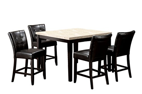"""HOMES: Inside + Out IDF-3866PT-48 5PC SET Glynn 5 Piece 48"""" Counter Height Dining Set"""