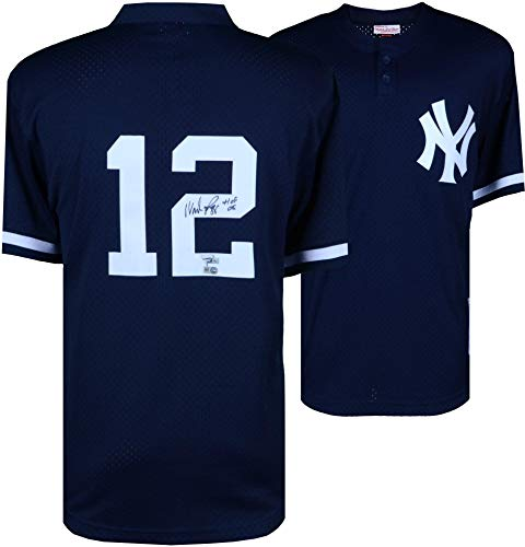 (Wade Boggs New York Yankees Autographed Mitchell and Ness Batting Practice Replica Jersey with