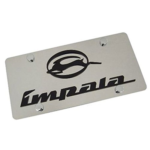 Chevy Impala Laser-Cut Logo & Name On Polished License Plate