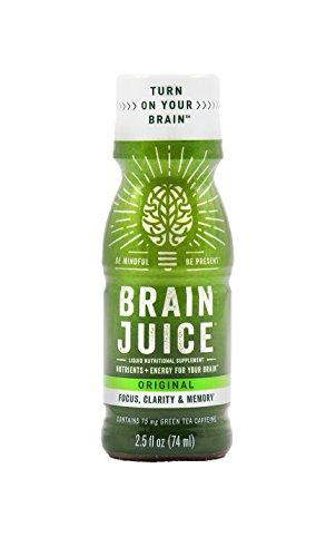 Brain Supplement Energy Drink Alternative Green Tea Extract Brain Support Shot for Focus, Clarity, Memory and Mood Brain Booster Natural Nootropic to Enhance Mind IQ BrainJuice Focus Supplement