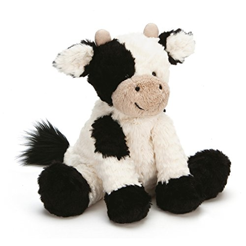 Jellycat Fuddlewuddle Cow Stuffed Animal, Medium, 9 ()