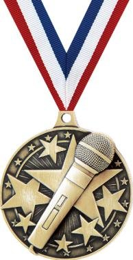Crown Awards Microphone Medals - 2