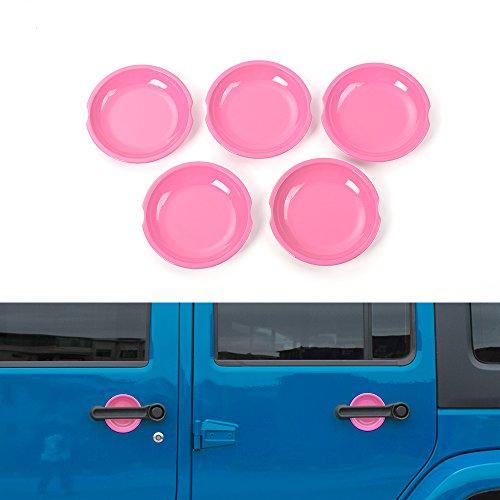 JeCar Dish Shaped Door Handle Recess Guard Inserts For Jeep Wrangler JK JKU  Unlimited Rubicon Sahara