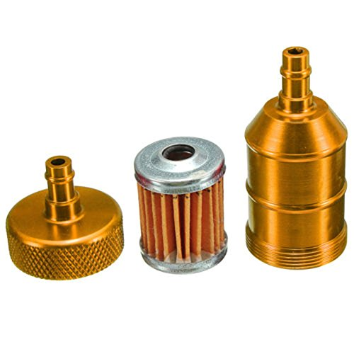 filtro de combustible CNC de scooter de quad de motocicleta de 6mm 1//4  universal SODIAL R amarillo Filtro de combustible de moto