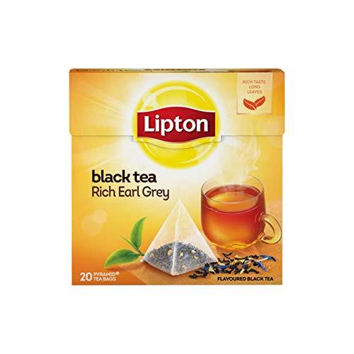 Bolsas de té Lipton | Té negro - Rich Earl Grey | Peso total 36gr / 1.27oz - 20 bolsas