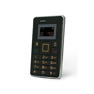 Slide Wallet Size Unlocked Mini Cell Phone Worldwide 2G GSM Service, Black/Silver
