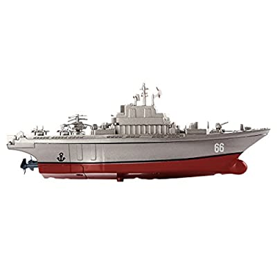 Buenotoys Remote Control Boat for Pools,indoor rc boat Rechargeable 2.4GHz RC Boat Ship aircraft carrier