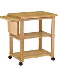 winsome wood utility cart natural