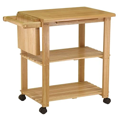 Cutting board table amazon winsome wood utility cart natural workwithnaturefo